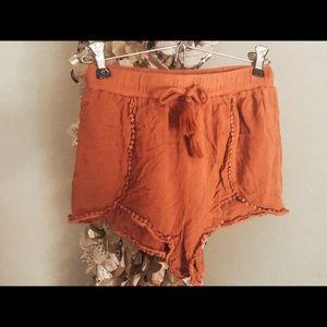 medium blush pink shorts